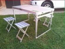 Стол складной и 4 табурета (комплект) можно купить в 4x4mag.ru
