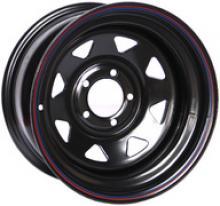 Диск колёсный стальной штампованный JEEP, посадка  5x114.3, размер 8х15,  вылет ET-19, центральное отверстие D - 84,  цвет черный можно купить в 4x4mag.ru