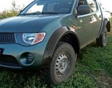 Расширители колесных арок (4 шт) Mitsubishi L200 2010 можно купить в 4x4mag.ru