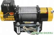 Электролебедка T-MAX ATW-6000 12V с синтетическим тросом 15м можно купить в 4x4mag.ru