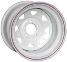 Диск колёсный стальной штампованный посадка 5x139.7 УАЗ размер 8х15 вылет ET-40 центральное отверстие D 110 цвет белый. можно купить в 4x4mag.ru