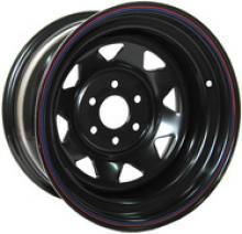 Диск колёсный стальной штампованный NISSAN Navara, посадка  6x114,3;  размер 8х16,  вылет ET-0, центральное отверстие  D - ,  цвет черный можно купить в 4x4mag.ru