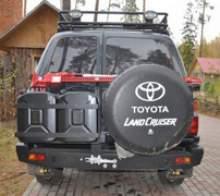 Задний силовой бампер Toyota LandCruiser 80 второго поколения. можно купить в 4x4mag.ru