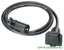 Провод для удлиннения электропроводки от фаркопа к прицепу с электрическими тормозами (американский стандарт) можно купить в 4x4mag.ru