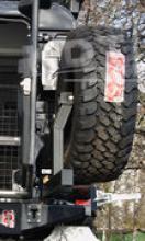 Калитка для запасного колеса на силовой задний бампер с местом под лебедку можно купить в 4x4mag.ru