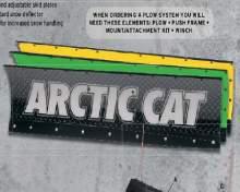 """ARCTIC CAT Отвал снегоуборочный 50"""" (127 см) (желтый). Дополнительно потребуется: 0436-636 (рама-толкатель); 0436-635 (крепление отвала) можно купить в 4x4mag.ru"""