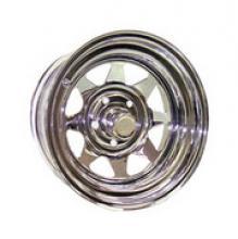 Диск колёсный стальной штампованный посадка  5x139.7  УАЗ размер 8х16 вылет  ET- 19  центральное отверстие D 110 цвет: хром. можно купить в 4x4mag.ru