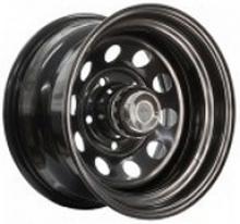 Диск колёсный стальной штампованный посадка 5x139.7 УАЗ размер 7х15 вылет ET-19 центральное отверстие D 110 цвет черный можно купить в 4x4mag.ru