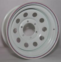 Диск колёсный стальной штампованный посадка  6x139.7  размер 8х15 вылет  ET- 19  центральное отверстие D 110 цвет: белый можно купить в 4x4mag.ru