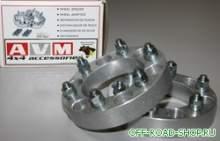 Колесные проставки (AVM 5W034). Комплект 2шт, 5x114.3мм, толщина 31,75мм можно купить в 4x4mag.ru