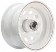 Диск колёсный стальной штампованный посадка 5x139.7 УАЗ размер 8х15 вылет ET-40 центральное отверстие D 110 цвет белый. В комплект входит хромированный колпак. можно купить в 4x4mag.ru