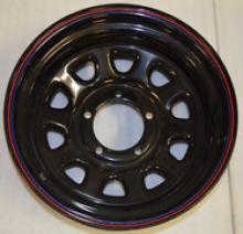 Диск колёсный стальной штампованный посадка 5x139.7 УАЗ размер 8х16 вылет ET- 19 центральное отверстие D 110 цвет: черный. можно купить в 4x4mag.ru