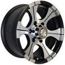 Диск колёсный легкосплавный литой LF посадка 5x139,7 УАЗ размер 8х16 вылет ET-25 центральное отверстие D110 цвет: черно-серебристый. можно купить в 4x4mag.ru