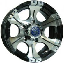 Диск колёсный легкосплавный литой ВК посадка 5x139,7 УАЗ размер 7х15  вылет ET-13  центральное отверстие D110  цвет: черно-серебристый можно купить в 4x4mag.ru