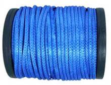 Синтетический трос D - 5 мм ( синий, нагрузка - 2500 кгс.) Цена за метр троса. можно купить в 4x4mag.ru