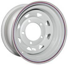 Диск колёсный стальной штампованный посадка 5x139.7 УАЗ размер 8х16 вылет ET -25,  центральное отверстие D 110 цвет: белый можно купить в 4x4mag.ru