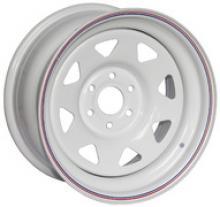 Диск колёсный стальной штампованный NISSAN Navara, посадка  6x114,3;  размер 8х16,  вылет ET-0, центральное отверстие  D - 66,1,  цвет белый можно купить в 4x4mag.ru