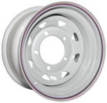Диск колёсный стальной штампованный посадка  5x139.7  УАЗ размер 8х16 вылет  ET- 3  центральное отверстие D 110 цвет  белый. можно купить в 4x4mag.ru