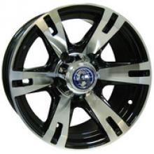 Диск колёсный легкосплавный литой ВК посадка 5x139,7  УАЗ  размер 8х16  вылет ET-20  центральное отверстие D110  цвет: черно-серебристый. можно купить в 4x4mag.ru
