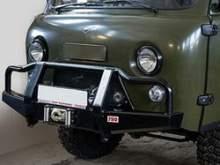 Бампер РИФ передний УАЗ Буханка универсальный усиленный с низким кенгурином можно купить в 4x4mag.ru