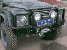 Бампер передний алюминиевый с кенгурином на Landrover Defender можно купить в 4x4mag.ru