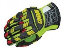 Перчатки Mechanix ORHD Hi-Viz, цвет: флоуресцентный желто-черный, размер - SM можно купить в 4x4mag.ru