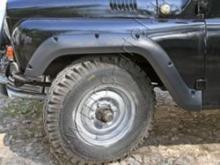 Расширители колесных арок Uaz Hunter, поверхность - шагрень можно купить в 4x4mag.ru