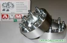 """Колесные проставки (AVM WS-114). Комплект 2шт, 8x165.1 ц.отв 124.9мм, толщина 63.5мм(2.5"""") можно купить в 4x4mag.ru"""