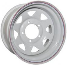 Диск колёсный стальной штампованный посадка  5x139.7 УАЗ размер 8х15 вылет  ET-19  центральное отверстие D 110 цвет белый можно купить в 4x4mag.ru