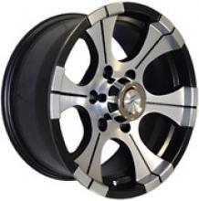 Диск колёсный легкосплавный литой LF посадка 5x139,7  УАЗ  размер 8.5х15  вылет ET-30  центральное отверстие D110  цвет: черно-серебристый. можно купить в 4x4mag.ru