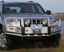 JEEP GRAND CHEROKEE (WH/WK/2006+) бампер передний DELUXE под лебедку +ABS можно купить в 4x4mag.ru