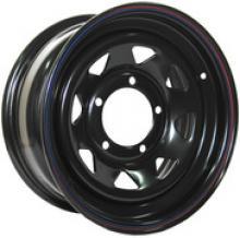 Диск колёсный стальной штампованный посадка 5x139.7 УАЗ размер 7х16 вылет ET- 0 центральное отверстие D 110 цвет: черный. можно купить в 4x4mag.ru